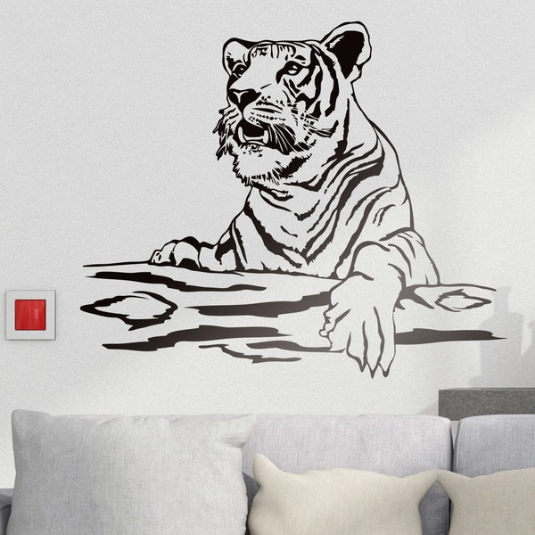 Wall Stickers: Tiger on a log