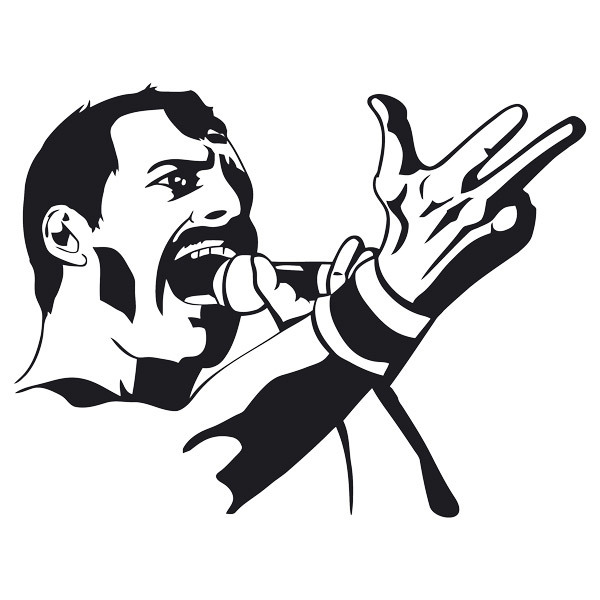 Wall Stickers: Freddy Mercury Queen