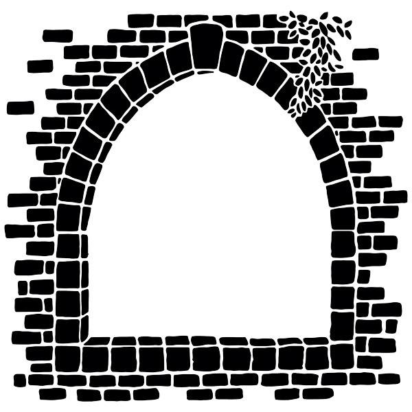 Wall Stickers: Stone window