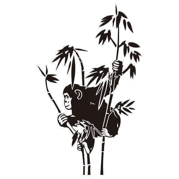 Wall Stickers: Monkey on bamboo