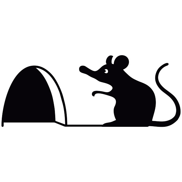 Stickers for Kids: Mouse on his doorstep