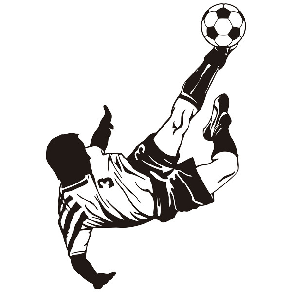 Wall Stickers: Soccer player making a Bicycle kick