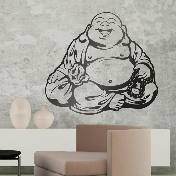 Wall Stickers: Smiling Buddha