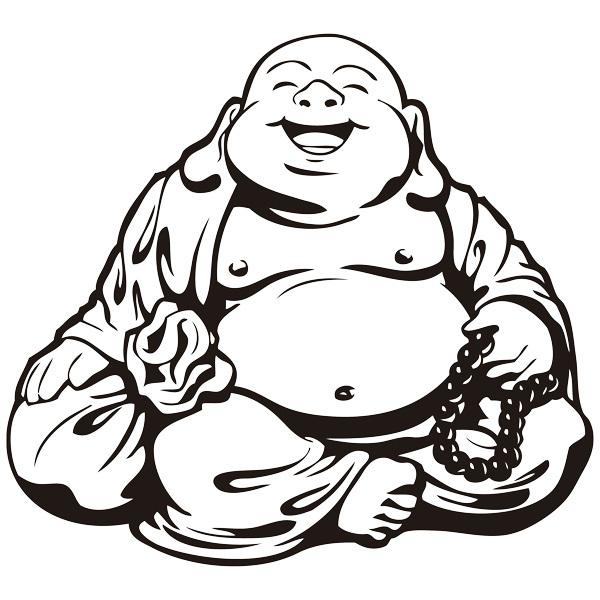 Wall Stickers: Smiling Buddha