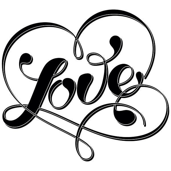 Wall Stickers: Word Love and heart