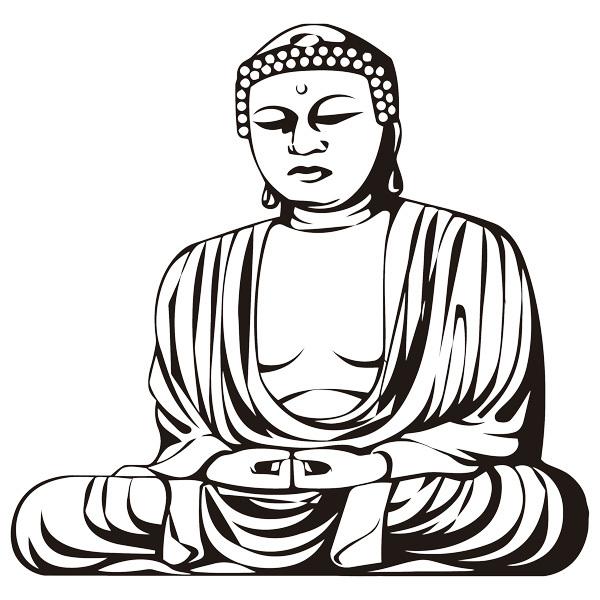 Wall Stickers: Wise Buddha