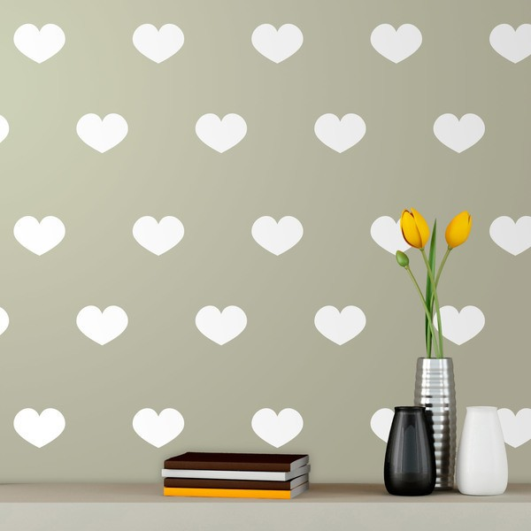 Wall Stickers: Kit 9 stickers Hearts