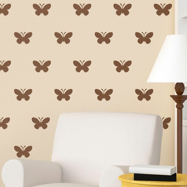 Wall Stickers: Kit 9 stickers Butterflies