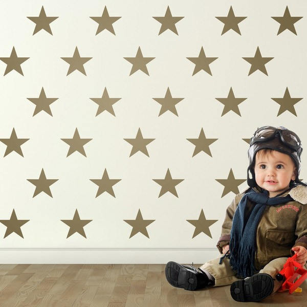 Wall Stickers: Kit 9 stickers Stars