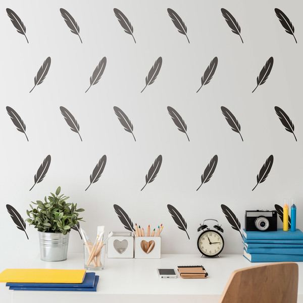Wall Stickers: Kit 14 stickers Feather