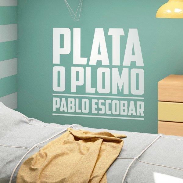 Wall Stickers: Plata o Plomo Pablo Escobar