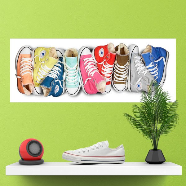 Wall Stickers: Converse shoes