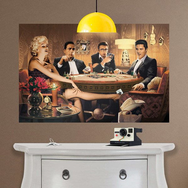 Wall Stickers: Adhesive poster Hollywood poker stars