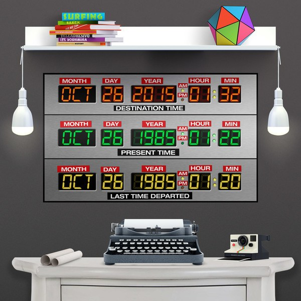 Wall Stickers: Adhesive poster DeLorean Time Panel