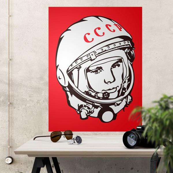 Wall Stickers: Adhesive poster Astronaut Yuri Gagarin