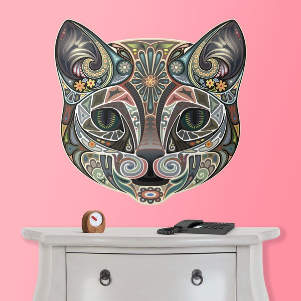 Wall Stickers: Indian Head Cat