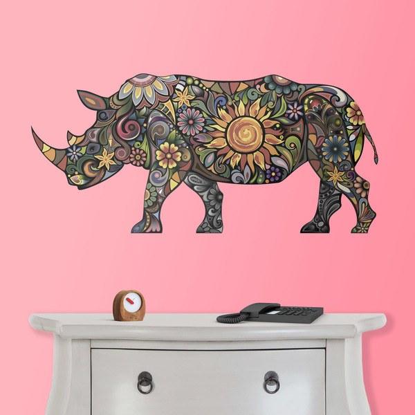 Wall Stickers: Hindu hippopotamus