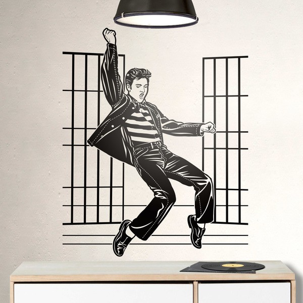 Wall Stickers: Elvis Presley Jailhouse Rock