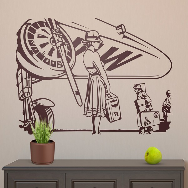 Wall Stickers: Lady at the airport