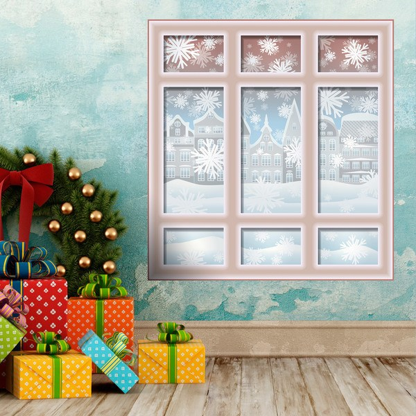Wall Stickers: Christmas Window