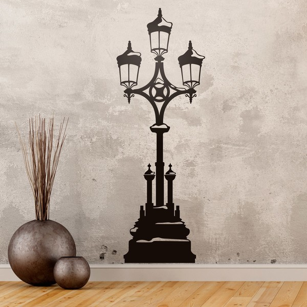 Wall Stickers: Street lamp snow covered