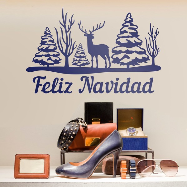 Wall Stickers: Trees, deer and Merry Christmas