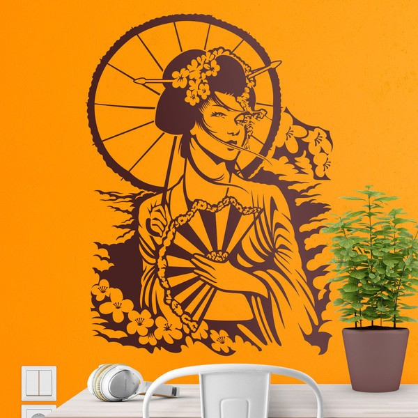 Wall Stickers: Japanese Geisha