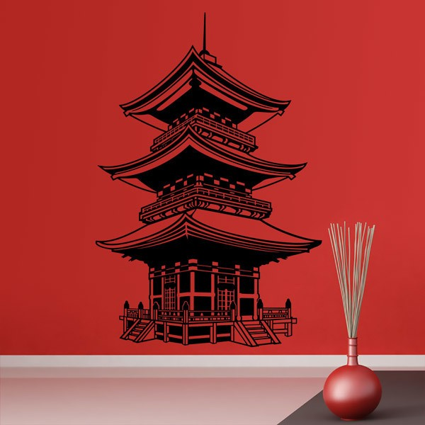 Wall Stickers: Buddhist Temple of Japan