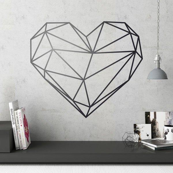 Wall Stickers: Origami geometric heart