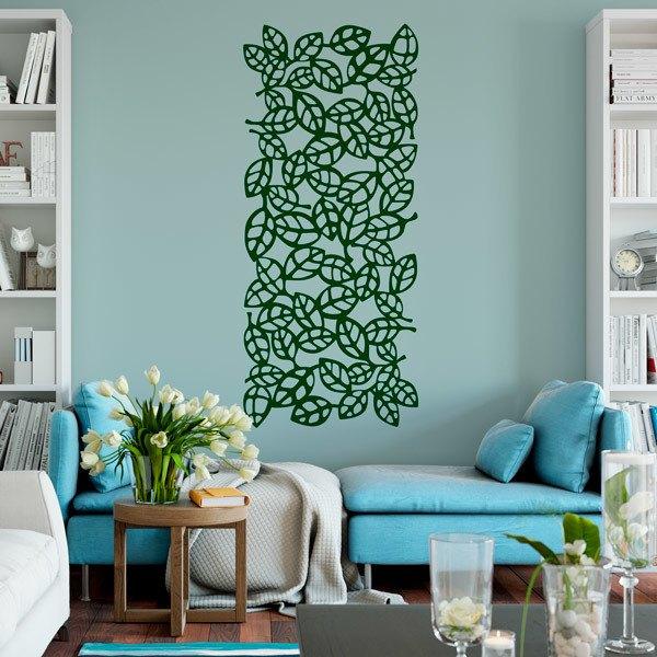 Wall Stickers: Leaf ornamental print sheet 6