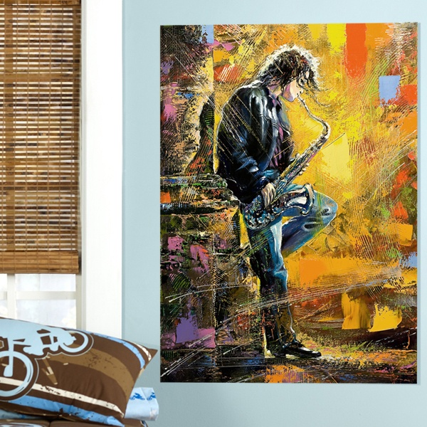 Wall Stickers: Street saxophonist