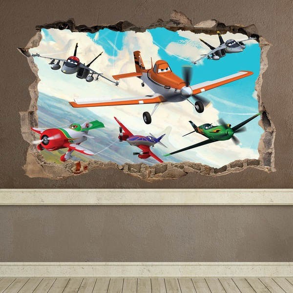 Wall Stickers: Hole Planes