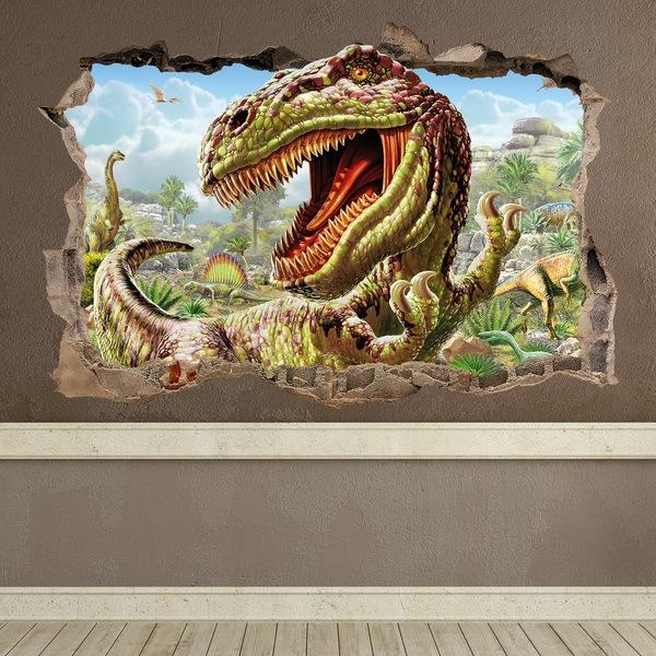 Wall Stickers: Hole Dinosaur