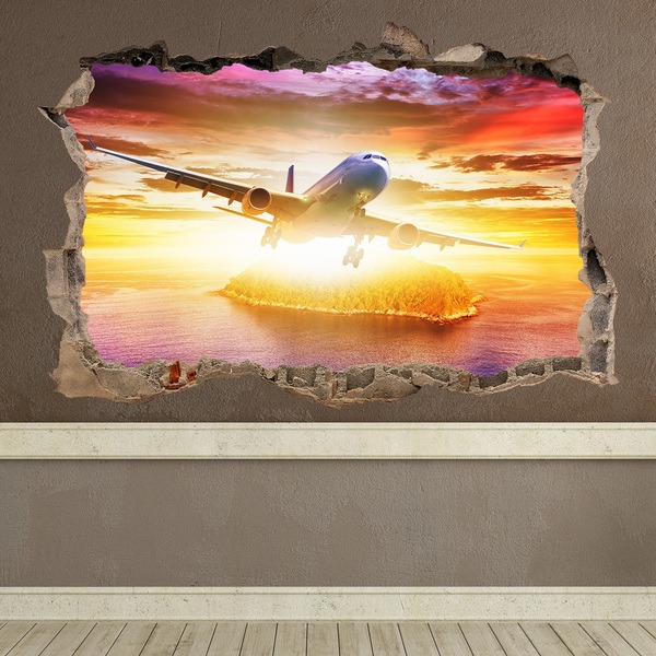 Wall Stickers: Hole Jetliner