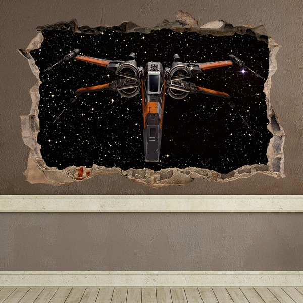 Wall Stickers: Hole X-wing Fighter