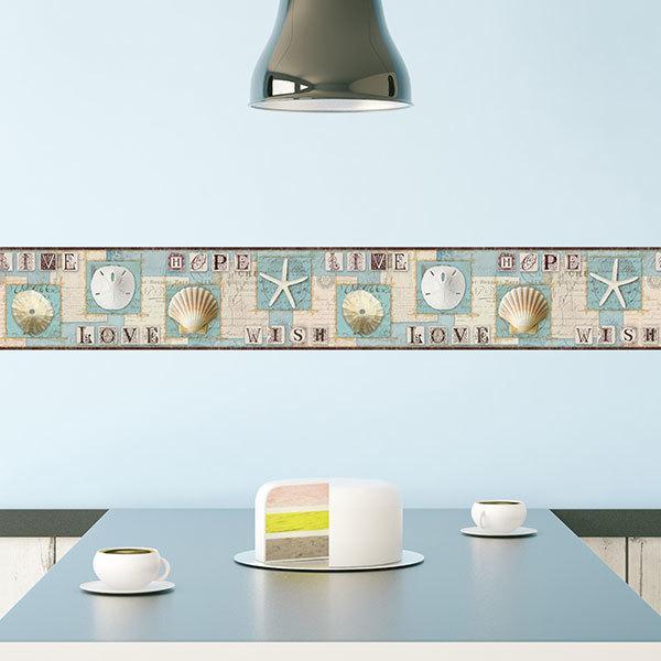 Wall Stickers: Wall Border marine motifs