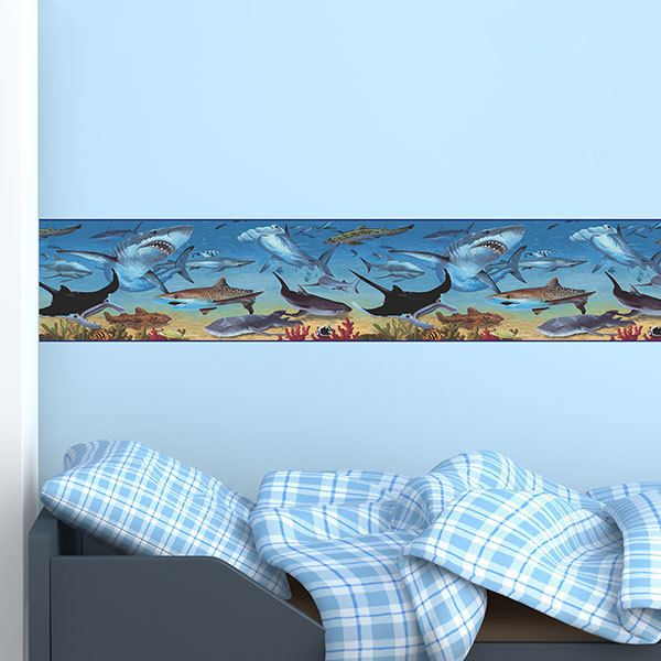 Stickers for Kids: valance shark