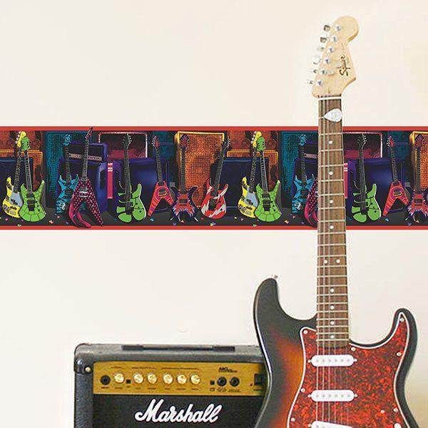 Wall Stickers: Wall border Guitars