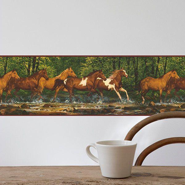 Wall Stickers: Wall border Horses