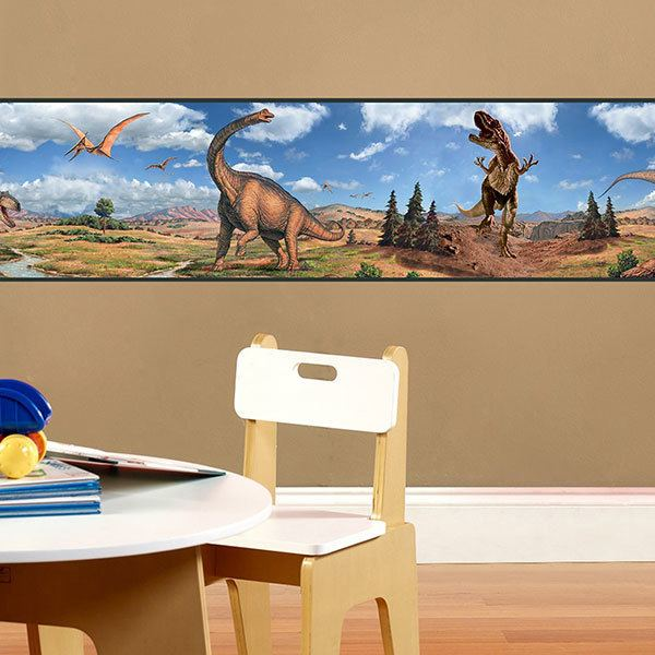 Stickers for Kids: Wall border Dinosaurs