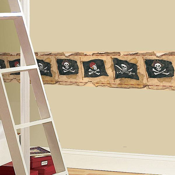 Stickers for Kids: Wall border pirates