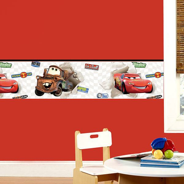 Stickers for Kids: Wall border Cars