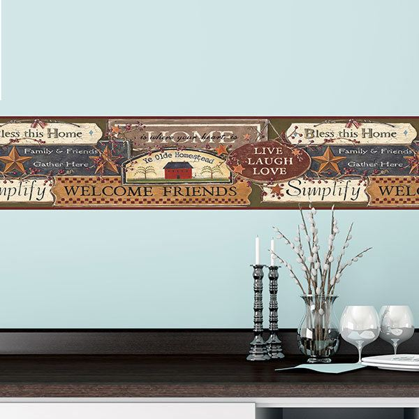 Wall Stickers: Wall border welcome
