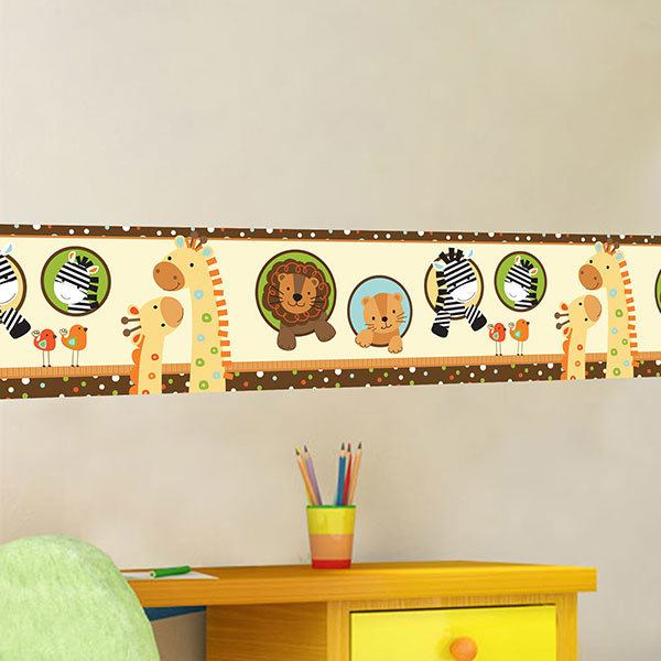 Stickers for Kids: Wall border infant animals