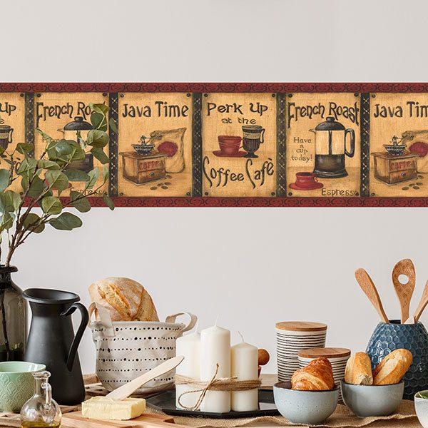 Wall Stickers: Wall border coffee