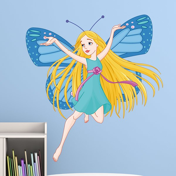 Stickers for Kids: Blue Butterfly Fairy
