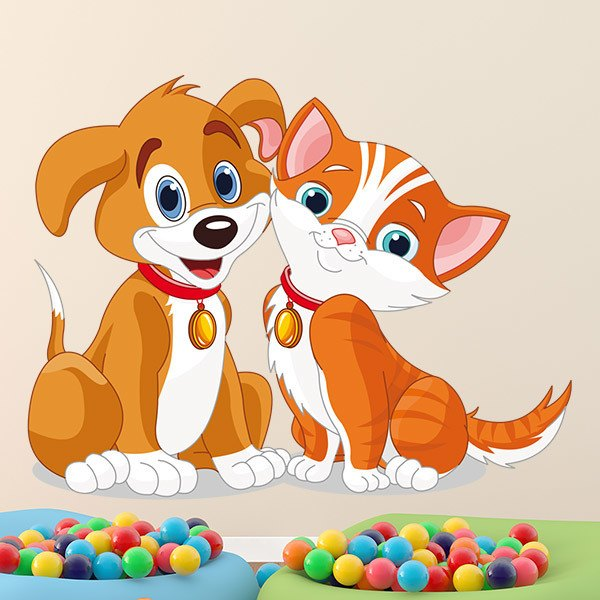 Stickers for Kids: Dog and cat