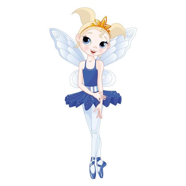 Stickers for Kids: Fairy Ballerina Blue