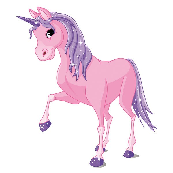 Stickers for Kids: Horse Unicorn Pink