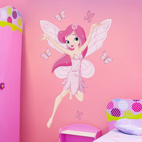 Stickers for Kids: Rose Fairy and Butterflies